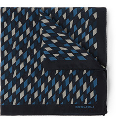 Boglioli Printed Silk Pocket Square