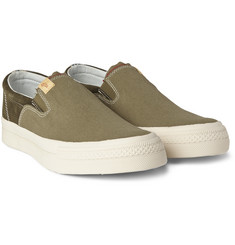 Visvim - Skagway Suede and Canvas Slip-On Sneakers