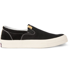 Visvim Skagway Embellished Canvas Slip-On Sneakers