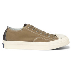 Visvim Skagway Cotton-Canvas and Leather Sneakers