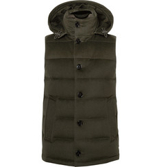 Mackintosh Hooded Wool-Felt Down Gilet