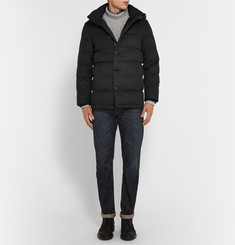 Mackintosh Hooded Wool-Felt Down Jacket