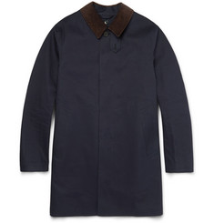 Mackintosh Corduroy-Trimmed Cotton Raincoat