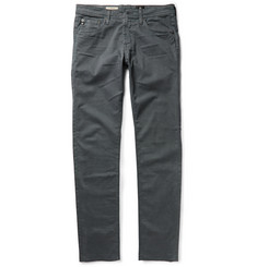 AG Jeans Dylan Slim-Fit Brushed Cotton-Twill Trousers