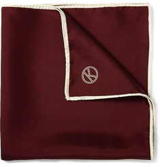 Kingsman Drake's Wool and Silk-Blend Pocket Square