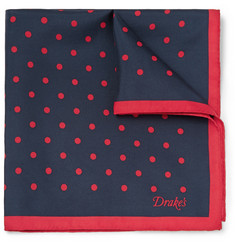 Kingsman Drake's Polka-Dot Silk Pocket Square