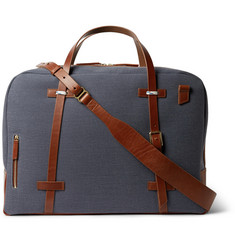 Miansai Monroe Leather-Trimmed Canvas Weekender
