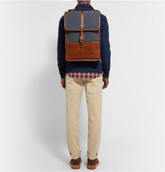 Miansai Harbour Canvas and Leather Backpack
