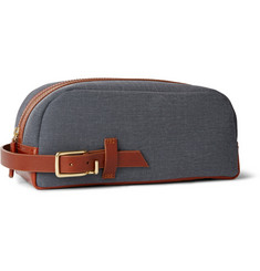 Miansai Lido Leather-Trimmed Coated Canvas Wash Bag