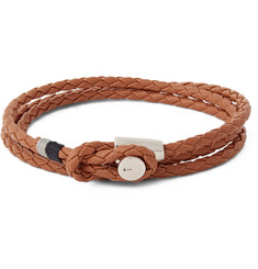 Miansai Splice Woven Leather Wrap Bracelet