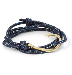 Miansai Rope and Gold-Plated Hook Bracelet
