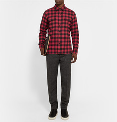 Ovadia & Sons Midwood Slim-Fit Checked Cotton-Flannel Shirt