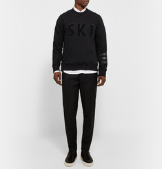 Ovadia & Sons Leather-Trimmed Loopback Cotton-Blend Jersey Sweatshirt