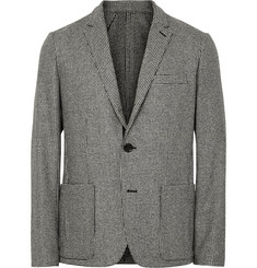 Ovadia & Sons Unstructured Houndstooth Wool Blazer