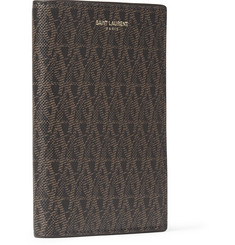 Saint Laurent Textured-Leather Passport Holder