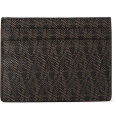 Saint Laurent Monogrammed Coated Canvas Cardholder