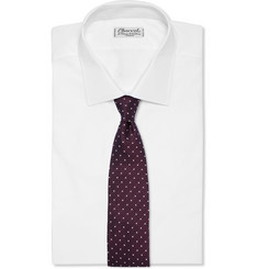 Drake's Dot-Embroidered Silk Tie