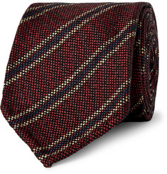 Drake's Striped Wool and Silk-Blend Tie