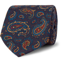 Drake's Paisley-Patterned Wool Tie
