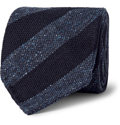 Drake's - Striped Wool and Silk-Blend Tie
