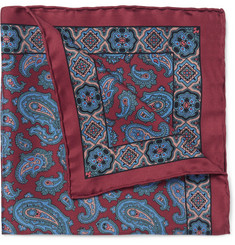 Drake's - Paisley Silk Pocket Square