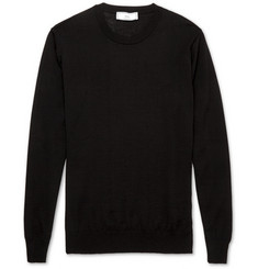 AMI Fine-Knit Merino Wool Sweater