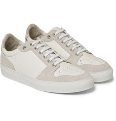 AMI - Textured-Leather and Suede Sneakers