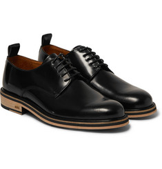 AMI Glossed-Leather Derby Shoes