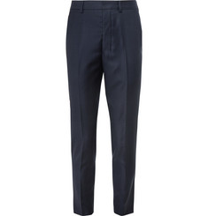 AMI - Navy Tapered Wool Trousers
