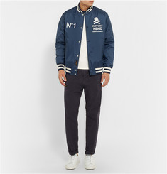 Neighborhood Printed Shell Varsity Jacket