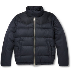 AMI Down-Filled Quilted Wool-Blend Jacket