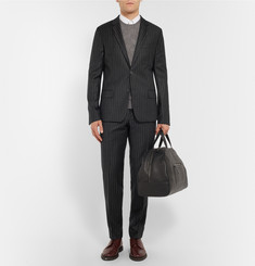 AMI Slim-Fit Pinstriped Wool Trousers