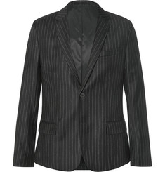 AMI Slim-Fit Pinstriped Wool Blazer