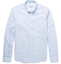 AMI Slim-Fit Striped Cotton Oxford Shirt