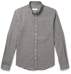 AMI Slim-Fit Button-Down Collar Gingham Cotton Shirt