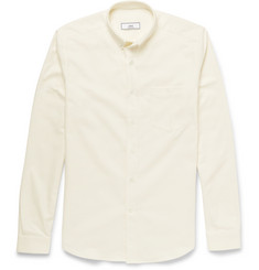 AMI Button-Down Collar Cotton-Flannel Shirt