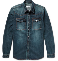 AMI Washed-Denim Western Shirt