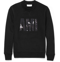AMI Logo-Appliqué Cotton Sweatshirt