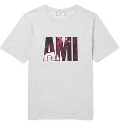 AMI Appliquéd Cotton-Jersey T-Shirt