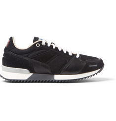 AMI Leather, Suede and Mesh Sneakers