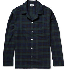 Sleepy Jones Black Watch Checked Cotton-Flannel Pyjama Shirt