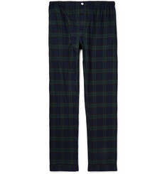 Sleepy Jones Black Watch Checked Cotton-Flannel Pyjama Trousers