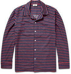 Sleepy Jones Striped Cotton-Flannel Pyjama Shirt