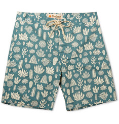 Mollusk Cactus-Print Cotton-Blend Swim Shorts