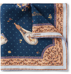 Rubinacci Le Galanterie Printed Silk-Twill Pocket Square