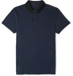 Marc by Marc Jacobs Neoprene-Collar Cotton-Piqué Polo Shirt