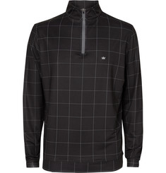 Peter Millar Perth Windowpane-Checked Stretch-Jersey Golf Top