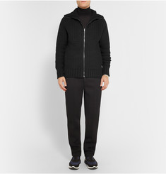 Chalayan Merino Wool and Cashmere-Blend Zip-Up Sweater
