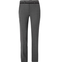 Chalayan Slim-Fit Grosgrain-Trimmed Stretch-Flannel Trousers