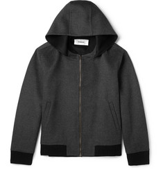 Chalayan Hooded Wool and Angora-Blend Bomber Jacket